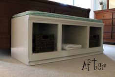 DIY Bench...another wonderful coffee table recycled into a beautiful bench