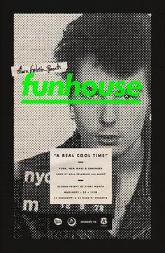 Funhouse #poster #vintage #offset #dots #vivid #color