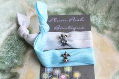 TWO 2 Fleur De Lis Charm  Yoga Knotted Elastic Hair by PlumPosh, $5.10
