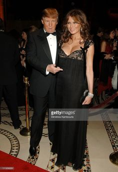 Donald Trump and Melania Trump during Fashion Group International Presents The 22nd Annual Night of Stars Honoring 'The Romantics' - Inside at Cipriani in New York City, New York, United States.