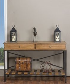 Newcastle Crisscross Console Table