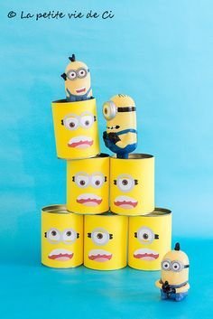 Anniversaire thème Minions: chamboul'tout - Birthday Minions Anniversaire Minions Printables Imprimables Minion S, Minion Party, Crafts To Do, Diy Craft Projects, Minions Birthday Theme, Games For Kids, Activities For Kids, Happy B Day, Diy Invitations