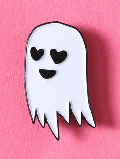 Happy Ghost Enamel Pin - Gypsy Warrior
