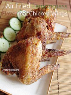 Air-Fried Lemongrass Flavored Chicken Wings
