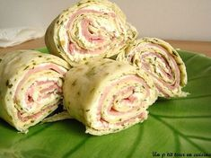 Ham and cheese wrap - Recipes Easy & Healthy Gourmet Sandwiches, Dinner Sandwiches, Wrap Sandwiches, Sandwich Recipes, Wrap Recipes, Healthy Dinner Recipes, Healthy Snacks, Snack Recipes, Cheese Wrap