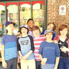 The Losers Club take Toronto.  The Losers Club cast from the upcoming IT remake from Finn Wolfhard's (Stranger Things) Instagram. It also stars Bill Skarsgard as Pennywise the Clown, Owen Teague (Bloodline), Jaeden Lieberher (Midnight Special), Jack Dylan Grazer (Tales of Halloween), Wyatt Oleff (Guardians of the Galaxy), Chosen Jacobs (Cops and Robbers) and Jeremy Ray Taylor (Ant-Man).