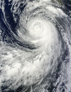 """Massive hurricane """"Marie"""" affecting southern California coast by Adonai on August 27, 2014 On August 25 at 18:20 UTC the MODIS instrument aboard NASA's Terra satellite captured Hurricane Marie's center just west of Socorro Island, Mexico in the Eastern Pacific. Image credit: NASA's Goddard MODIS Rapid Response Team"""