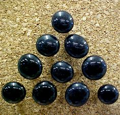 Black Stone Decorative Push Pins.    Perfect personal and functional accessary or gift for cork bulletin board. Also check out the Black and Gray Fabric Covered Cork Bulletin Boards.   www.PushPinsAndFabricCorkBoards.com   >Decorative Push Pins   >Black Gray   #fabricbulletinboard  #decorativepushpins