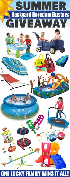 You could WIN a whole backyard full of FUN things to keep the kids busy allll summer long!  HURRY and ENTER!