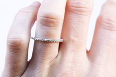"""NEW STACKER ALERT - Available online right MEOW. Our über dainty """"Petite French Pavé"""" stacker. Ladies, it's 1.50mm wide...possibly the cutest thing ever.  See more here: http://www.goodstoneinc.com/product-page/c02dc41f-ff2f-a5d7-4c56-6fa6d1f971e9"""