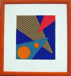 Judy Tepley, Pointy Things, 8 by 9 inches, framed 15 by 16 inches