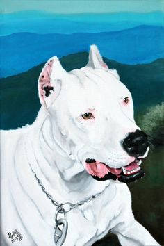Custom dog portrait 8x12 canvas hand painted from by PerlillaPets