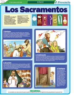 Los Sacramentos | Presencia Digital Catholic Sacraments, Religion Catolica, Religious Education, Bible Stories, Inspirational Quotes, Author, Celestial, Embroidery Hearts, 10 Commandments Kids