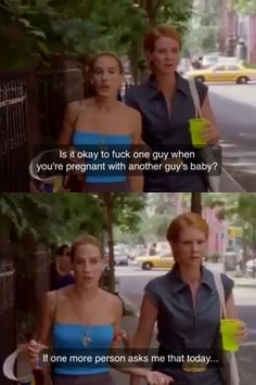 Miranda and Carrie Sex in the City