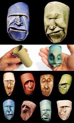Toilet paper roll art.