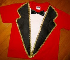 Faux Ringmaster Tee Shirt Boys Men Circus Carnival Big Top by MadiBethCreations on Etsy