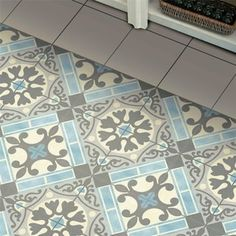 SomerTile 17.625x17.625-inch Jive Azul Ceramic Floor and Wall Tile (5 tiles/11.1 sqft.)