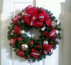 San Francisco 49ers Xmas wreath