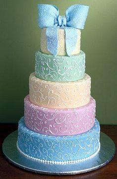beautiful pastel wedding cake perhaps?