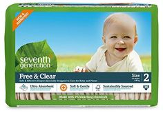 Seventh Generation Free and Clear Baby Diapers,-Not organic cotton, but they are unbleached cotton, unscented, & free of nasty petrochemical synthetic absorbant materials  that create a nightmare in landfills. There ARE organic cotton cloth diapers, but there are cost  barriers.Nor do most new mothers feel up to  washing diapers-but if you do choose this  admirable option, use a natural detergent (7th  Gens Free & Clear works well)& a non chlorine bleach.@Amazon