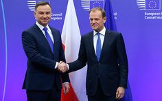 Brexit will trigger collapse of EU, warns Poland A British exit from the EU could have catastrophic consequences for the bloc, Andrzej Duda, the Polish president, says Poland's President Andrzej Duda (L) is welcomed by European Council President Donald Tusk ahead of a meeting at the European Council in Brussels, Belgium, January 18, 2016.