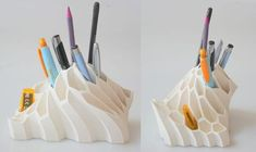 3D printed pencil holder among others Maybe something for 3D Printer Chat?                                                                                                                                                                                 More