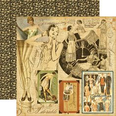 Graphic 45 - Domestic Goddess - 12 x 12 Double Sided Paper - Lady of the House at Scrapbook.com $0.94