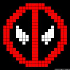 Deadpool friendship bracelet pattern - can also be used for a knitting/crochet chart Bead Crochet Patterns, Perler Patterns, Beading Patterns, Embroidery Patterns, 8 Bit Crochet, Crochet Chart, Friendship Bracelet Patterns, Friendship Bracelets, Cross Stitch Embroidery