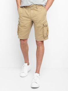 """Gap Mens Cargo Shorts (12"""") Khaki"""