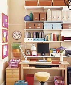 Expert tips on how to organize a home office.