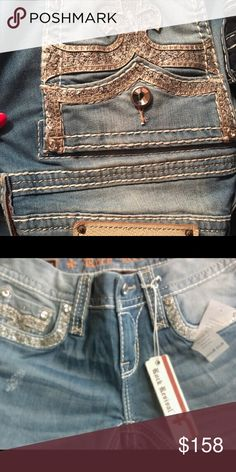 30 inseam Hemmed by Buckle store. New with tag Bling.   Light wash.   Beautiful. FOR TRADE ONLY.   For @romanbae    DONT BUY Rock Revival Jeans Boot Cut