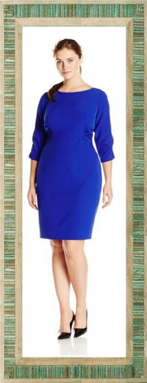 Clothing, Furniture and Accessories: Sleeve Ruched Sheath Dress