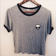 Brandy Melville Alien Crop Top Great condition and super soft.. Only worn a few times Brandy Melville Tops Crop Tops