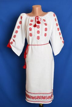 Ukrainian Hand Embroidered Womens Dress di StoreOfEmbroidery, $119.99