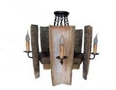 lamparas hechas con maderas rusticas - Buscar con Google