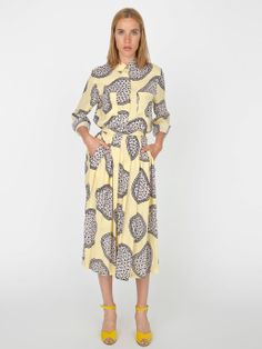 Nathalie Du Pasquier Nina Print Basic Button-Up Blouse | American Apparel