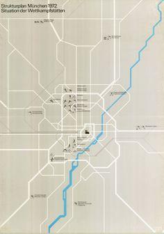 // Munich 1978 Oympic venues map — Otl Aicher