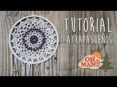 Beginner Crochet Cómo hacer un atrapasueños ganchillo Crochet Hook Set, Love Crochet, Crochet Gifts, Crochet Doilies, Beautiful Crochet, Crochet Flowers, Mandala Crochet, Dream Catcher Decor, Dream Catcher Boho