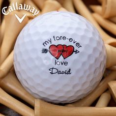 Loving Hearts Golf Ball Set - Callaway® Warbird Plus. Re-pinned by www.apebrushes.com. GREENS BRUSHES THAT REALLY WORK!