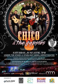 Chico & the Gypsies USA Debut Concert June 25 2016 - laconcertgroup.com #chicoinla