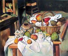 Paul Cezanne - Still Life with Fruit Basket
