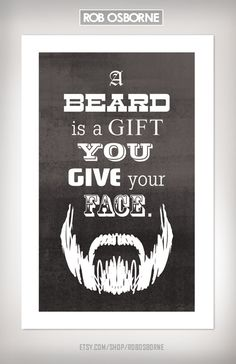 BEARD GIFT Art Print 11x17 by Rob Osborne by RobOsborne on Etsy