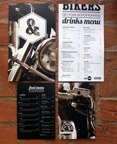 Bros  Bikers Cafe identity design / Marjorye of São Paulo-based Estúdio Quadrilátero