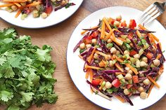 Chickpea slaw power salad