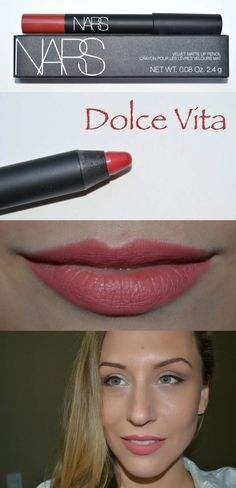 #SEPHORA :: NARS Velvet Matte Lip Pencil, Dolce Vita :: $25 | sephora.com / beauty.com / nordstrom.com :: Dusty rose. Enriched w/ Vitamin E & emollients for a creamy texture (not drying!) Silicones ensures long-lasting color. Jumbo crayon. | #nars #lippencil Nars Velvet Matte, Matte Lips, Love Makeup, Beauty Makeup, Hair Beauty, Staubige Rose, Dusty Rose, Vitamin E, Nars Dolce Vita