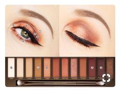 naked makeup tutorial - Tiktok Hair Make-Up Make Up Palette, Diy Makeup Palette, Naked Palette, Urban Decay Makeup, Maquillage Urban Decay, Urban Decay Naked Heat, Heat Palette Urban Decay, Skin Makeup, Eyeshadow Makeup