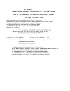 Waiver Of Liability Sample   Swifter.co   Liability Waiver Template