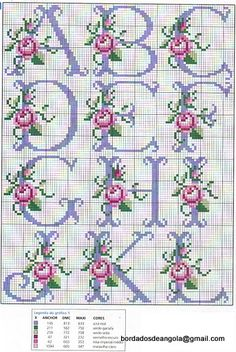 Cross stitch - alphabet pattern ... still looking for the other half ...
