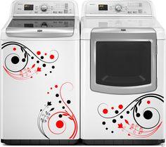 Washer Dryer Vinyl Decals Swirl Vinyl by thewordnerdstudio on Etsy
