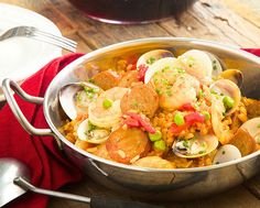 Spanish Paella with Saffron and Seafood. Yum. http://www.chefd.com/collections/all/products/spanish-paella